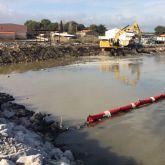 Barrage filtrant anti-MES et rideau anti-turbidités - zone de chantier