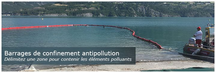 Barrage de confinement antipollution